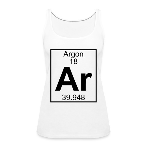 Argon (Ar) (element 18) - Women's Premium Tank Top