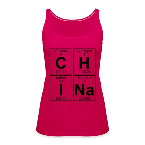 C-H-I-Na (china) - Full - Women's Premium Tank Top