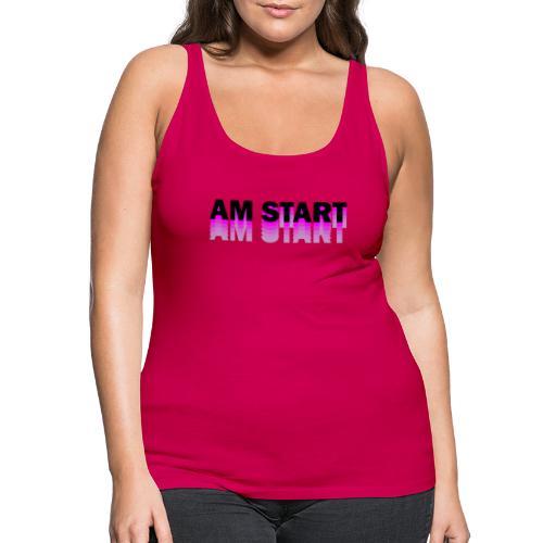 am Start - pink schwarz faded - Frauen Premium Tank Top