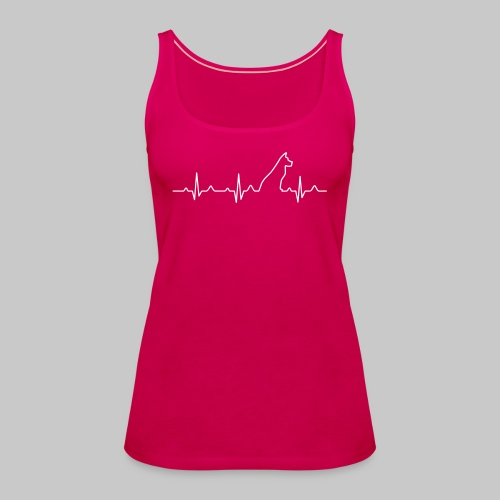 Dog Heartbeat 2 - Frauen Premium Tank Top