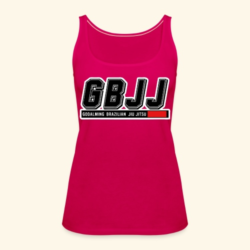 GBJJlogo3h - Women's Premium Tank Top