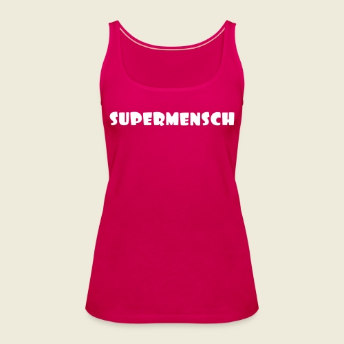 Supermensch in weiß 2 - Frauen Premium Tank Top