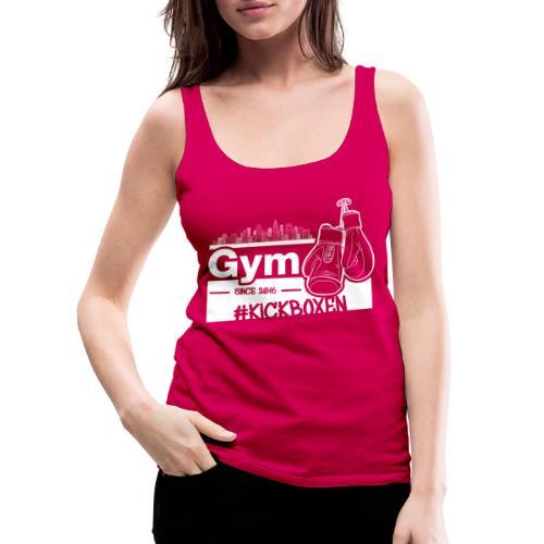 Gym Druckfarbe weiss - Frauen Premium Tank Top