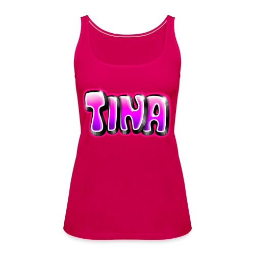 GRAFFITI TAG TINA PRINTABLE ON EVERYTHING PINK - Débardeur Premium Femme