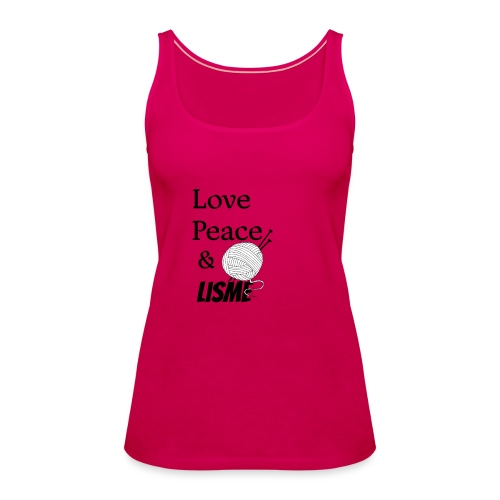 Love Peace & Lisme - Frauen Premium Tank Top