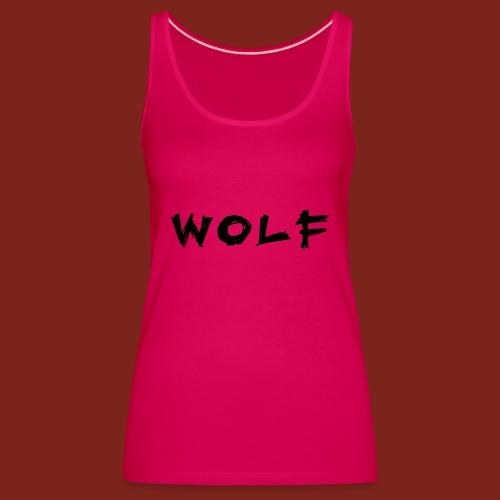 Wolf Font png - Vrouwen Premium tank top