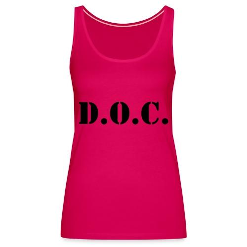 Department of Corrections (D.O.C.) 2 back - Frauen Premium Tank Top