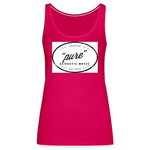 pure logo gross - Frauen Premium Tank Top