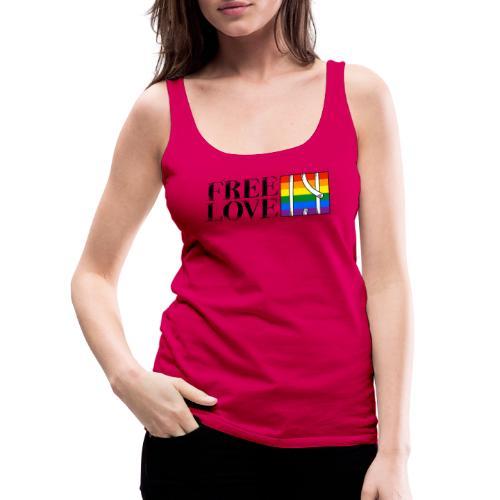 Free Love Rainbow Flag Freie Liebe - Frauen Premium Tank Top