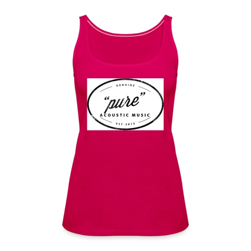 pure logo gross - Frauen Premium Tank Top
