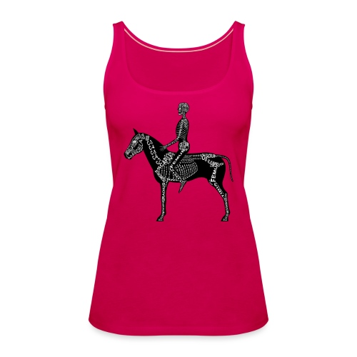 Reiter-Skelett - Camiseta de tirantes premium mujer