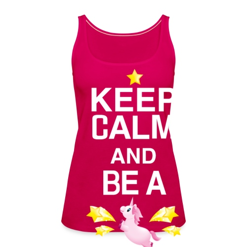SmileyWorld Keep Calm And Be A Unicorn - Frauen Premium Tank Top