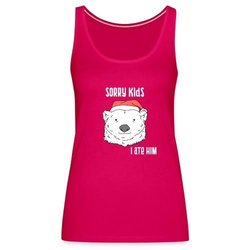 Funny Christmas gift. Bear ate Santa Claus joke. - Women's Premium Tank Top