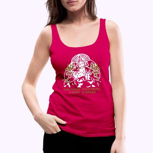 Tara blanca - Camiseta de tirantes premium mujer
