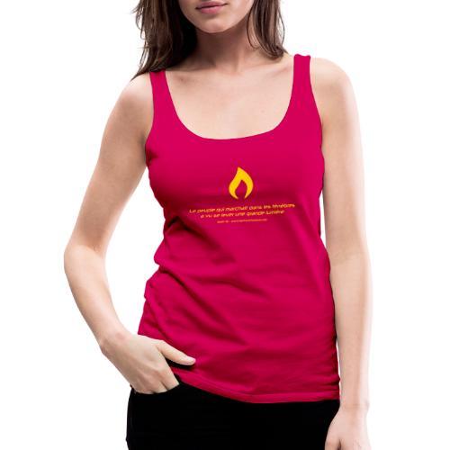 Flamme de Lights in the Dark - Débardeur Premium Femme
