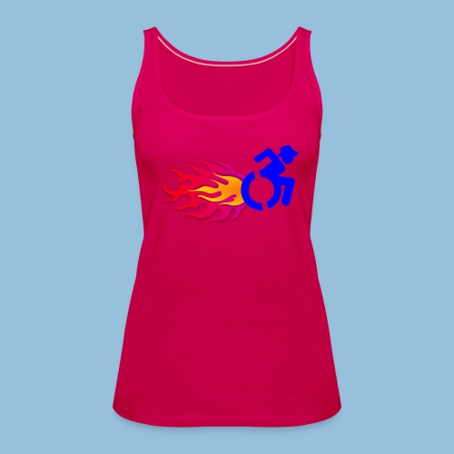 Wheelchair with flames 012 - Vrouwen Premium tank top