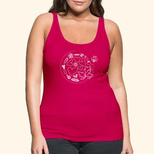 Abeja en el huerto - Camiseta de tirantes premium mujer