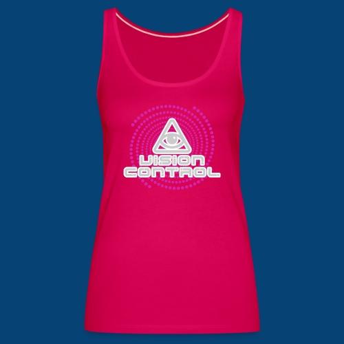 Vision Control Basic Logo Grey Pink Pattern - Frauen Premium Tank Top