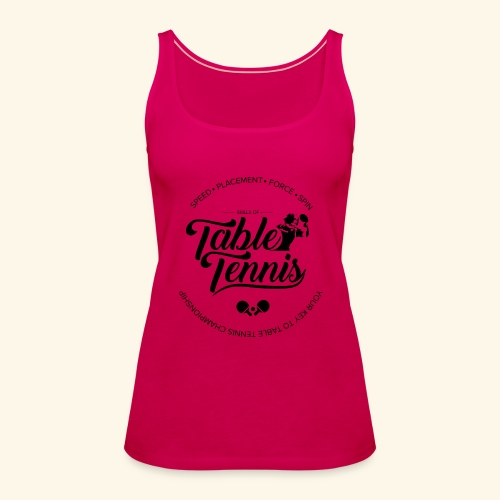 Key to Table tennis championship - Frauen Premium Tank Top