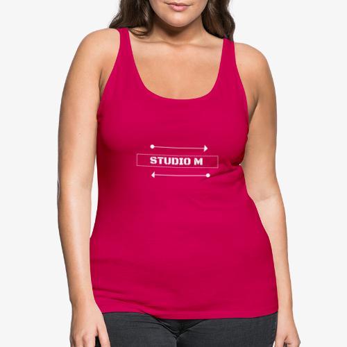 Studio M (Blanco) - Camiseta de tirantes premium mujer