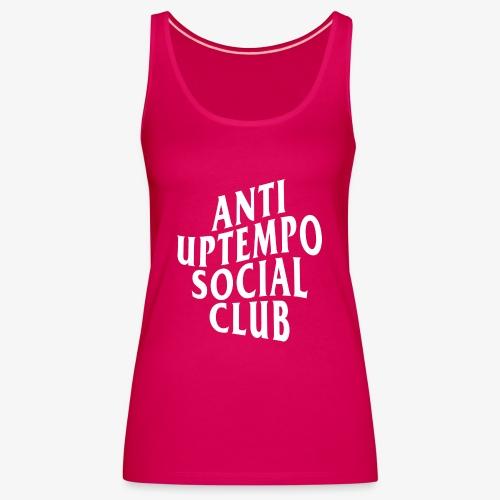 logo anti uptempo social club - Débardeur Premium Femme
