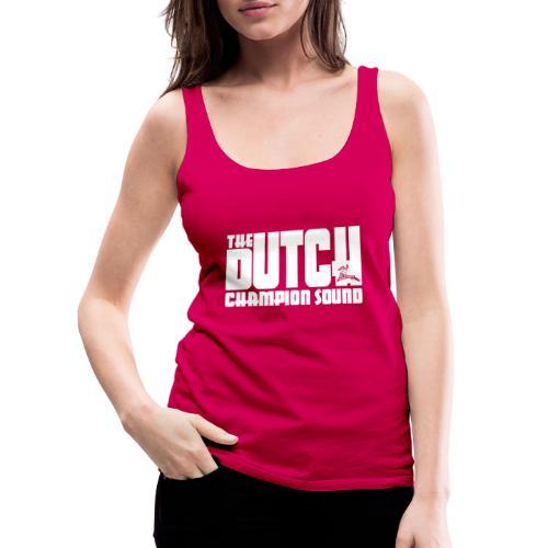 The Dutch Champion Sound WHITE - Women's Premium Tank Top
