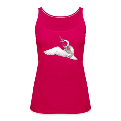 Badass Squirrel and his Uni-Swan - Women's Premium Tank Top