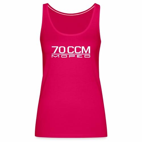 70 ccm Moped Emblem - Women's Premium Tank Top