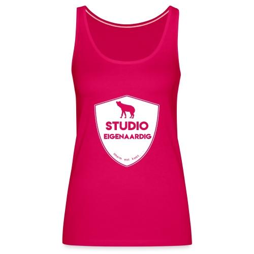 wit logo - Vrouwen Premium tank top