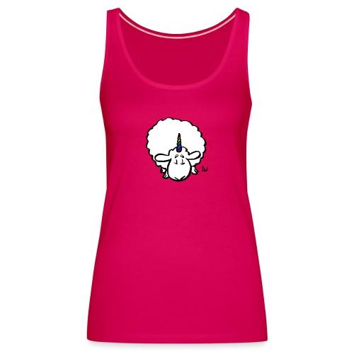 Ewenicorn: ¡es una oveja unicornio arcoiris! - Camiseta de tirantes premium mujer
