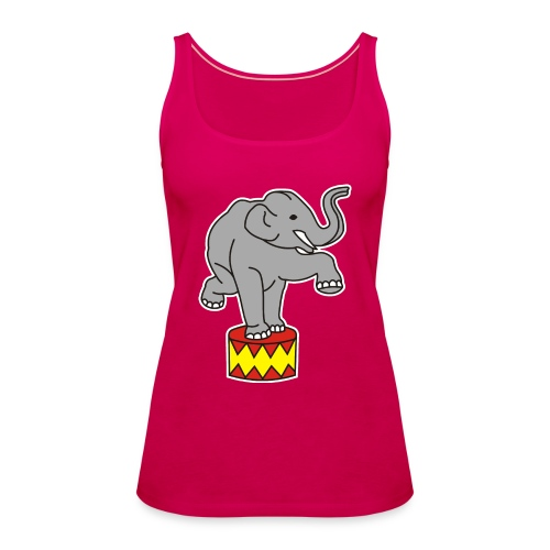 Zoo Zirkus Elefanten Circus Elephants Retro Comic - Frauen Premium Tank Top