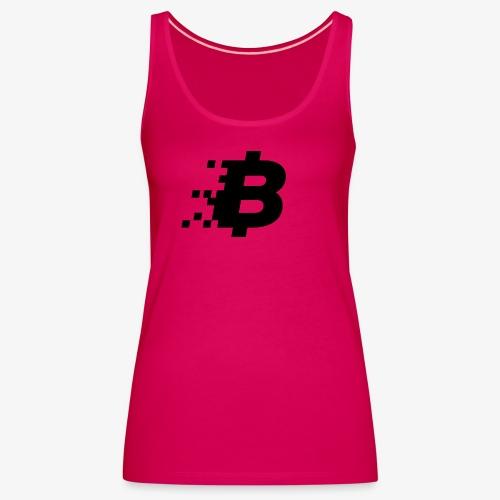 Bitcoin black logo - Women's Premium Tank Top