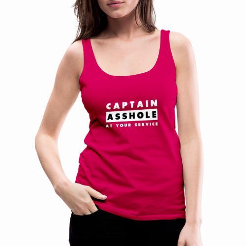Captain Asshole At Your Service - Women's Premium Tank Top