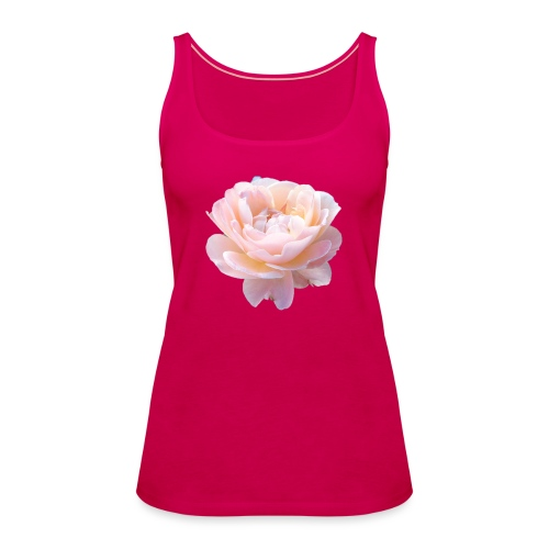 A pink flower - Women's Premium Tank Top