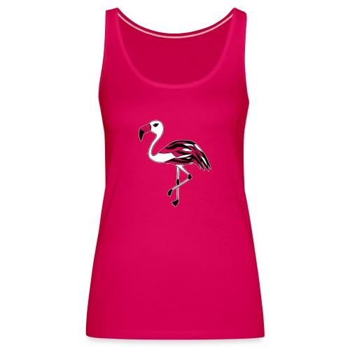 Flamingo schwarz-weiss - Frauen Premium Tank Top
