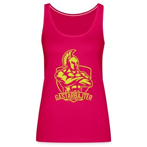gastarbajter logo spartan neon yellow png - Frauen Premium Tank Top