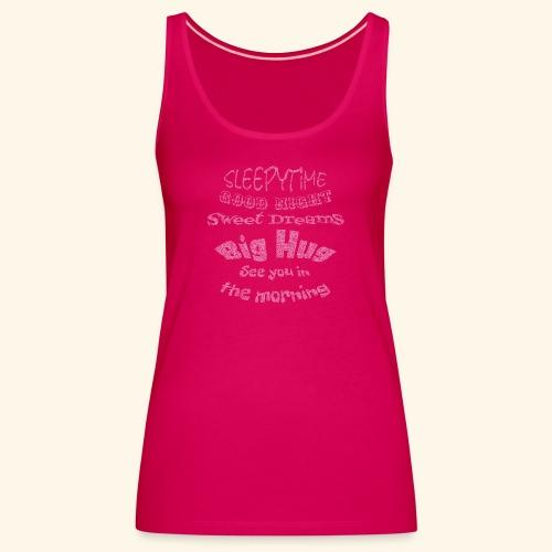 SleepyTime in soft pink - Vrouwen Premium tank top