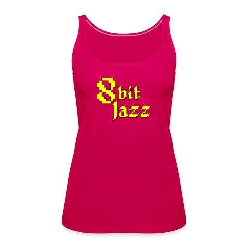 8 Bit Jazz Logo - Yellow - Women's Premium Tank Top