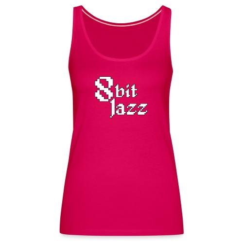 8 Bit Jazz Logo - White - Women's Premium Tank Top
