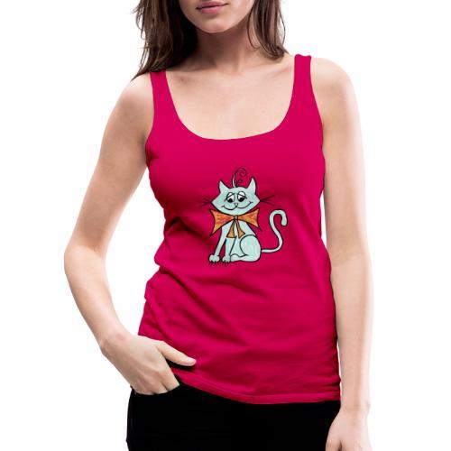 NIedliche blaue Katze - Frauen Premium Tank Top