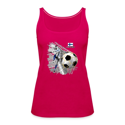 FINLAND FOOTBALL SOCCER PLAY T SHIRTS, GIFTS etc. - Naisten premium hihaton toppi