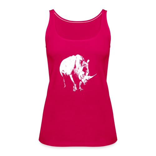 White Rhinoceros (highlights only) - Women's Premium Tank Top