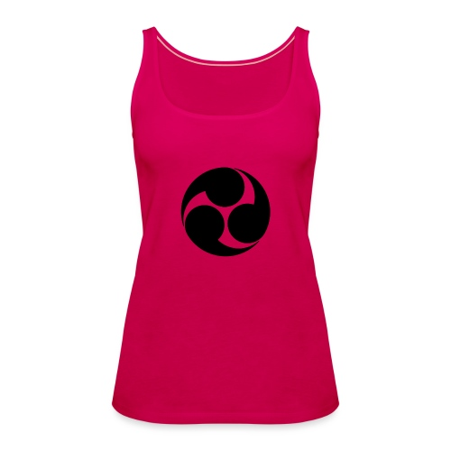 Kobayakawa Mon Japanese clan black - Women's Premium Tank Top