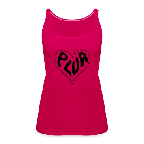 PLUR Peace Love Unity & Respect ravers mantra in a - Women's Premium Tank Top