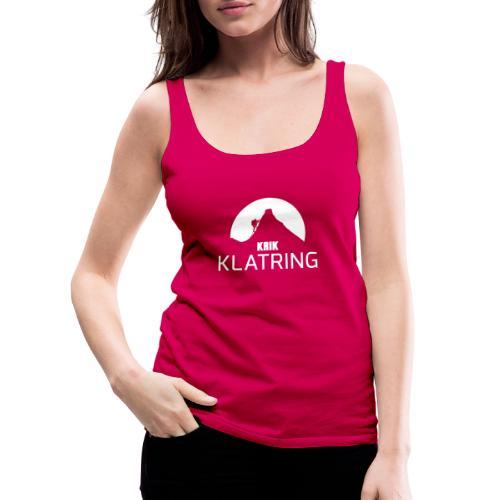 KRIK Klatring white 1 - Premium singlet for kvinner