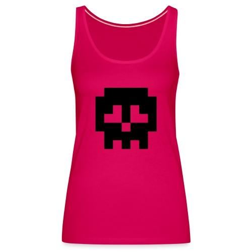 Retro Gaming Skull - Women's Premium Tank Top
