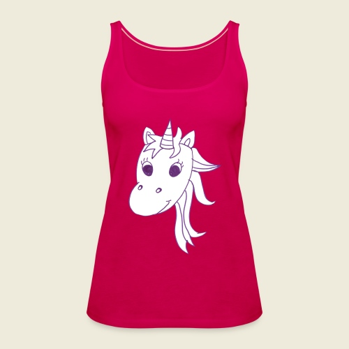 Einhorn Unicorna einfarbig weiß lila - Frauen Premium Tank Top