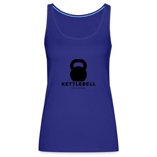 Kettlebell Deurne Logo Zwart - Vrouwen Premium tank top