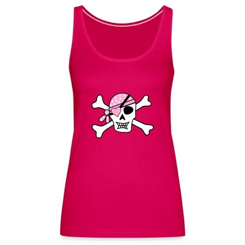Totenkopf mit pinken Bandana - Frauen Premium Tank Top