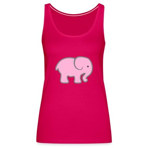 Pinker Elefant - Frauen Premium Tank Top